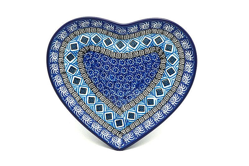 Ceramika Artystyczna Polish Pottery Plate - Heart - Aztec Sky 959-1917a (Ceramika Artystyczna)