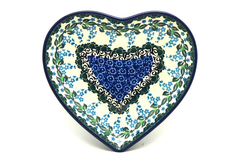Ceramika Artystyczna Polish Pottery Plate - Heart - Wisteria 959-1473a (Ceramika Artystyczna)