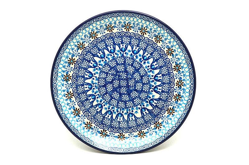 "Ceramika Artystyczna Polish Pottery Plate - Salad/Dessert (7 3/4"") - Blue Yonder 086-2187a (Ceramika Artystyczna)"