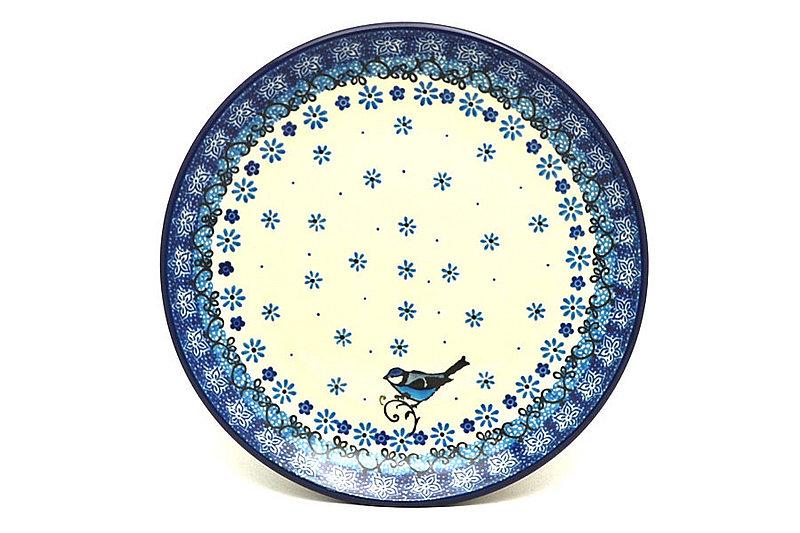 "Ceramika Artystyczna Polish Pottery Plate - Salad/Dessert (7 3/4"") - Bluebird 086-2529a (Ceramika Artystyczna)"