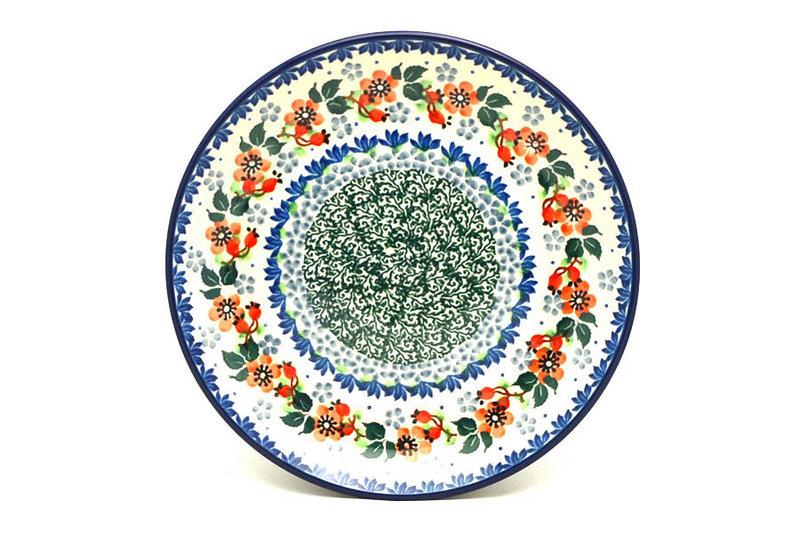 "Ceramika Artystyczna Polish Pottery Plate - Salad/Dessert (7 3/4"") - Cherry Blossom 086-2103a (Ceramika Artystyczna)"