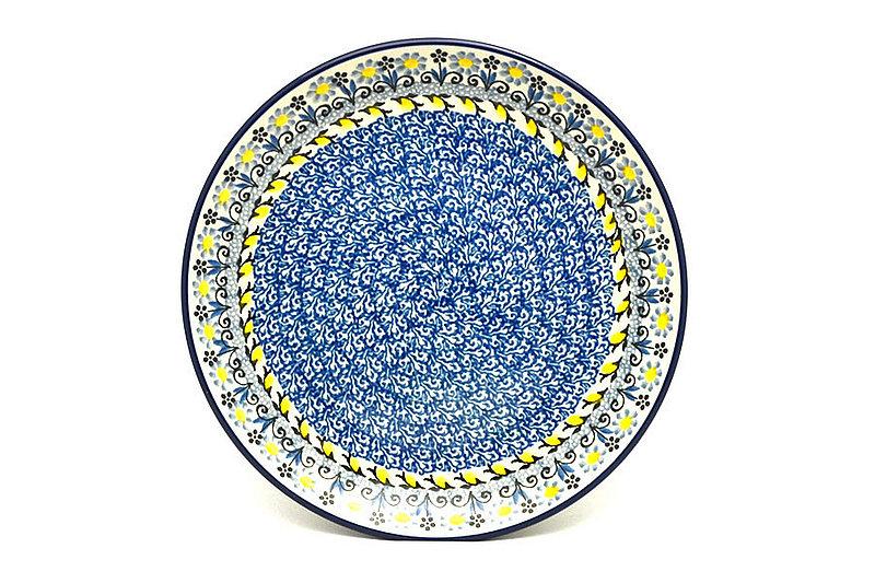 "Ceramika Artystyczna Polish Pottery Plate - Salad/Dessert (7 3/4"") - Daisy Maize 086-2178a (Ceramika Artystyczna)"