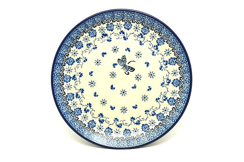 "Ceramika Artystyczna Polish Pottery Plate - Salad/Dessert (7 3/4"") - Dragonfly 086-2009a (Ceramika Artystyczna)"