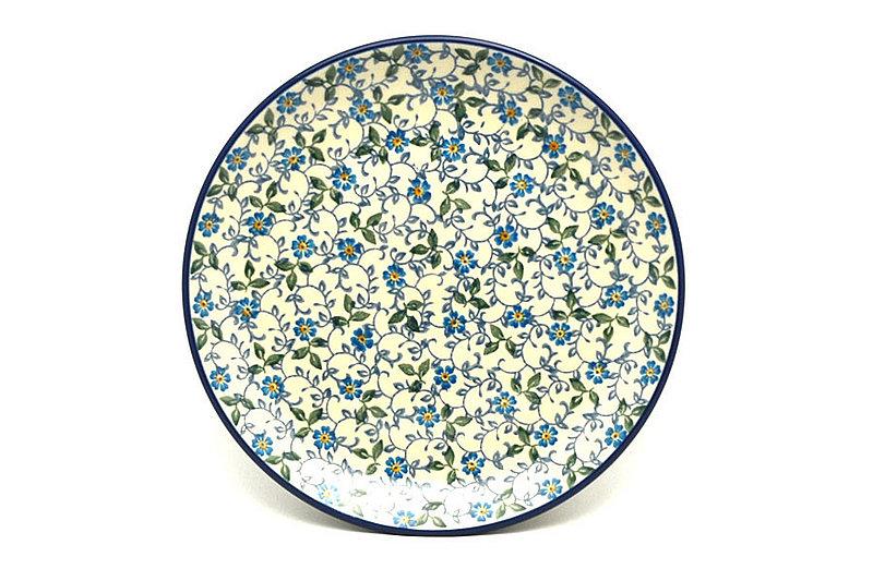 "Ceramika Artystyczna Polish Pottery Plate - Salad/Dessert (7 3/4"") - Forget-Me-Knot 086-2089a (Ceramika Artystyczna)"