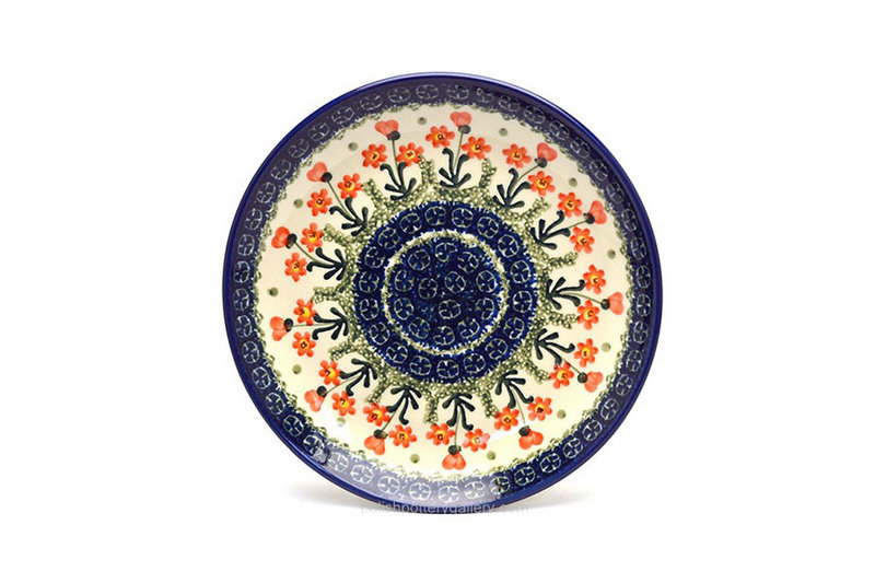 "Ceramika Artystyczna Polish Pottery Plate - Salad/Dessert (7 3/4"") - Peach Spring Daisy 086-560a (Ceramika Artystyczna)"