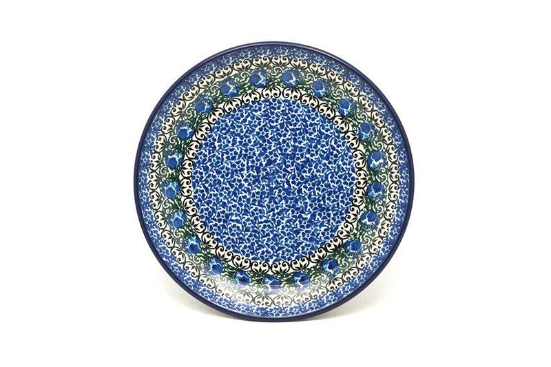 "Ceramika Artystyczna Polish Pottery Plate - Salad/Dessert (7 3/4"") - Peacock Feather 086-1513a (Ceramika Artystyczna)"