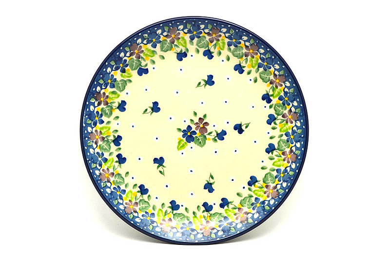 "Ceramika Artystyczna Polish Pottery Plate - Salad/Dessert (7 3/4"") - Plum Luck 086-2509a (Ceramika Artystyczna)"