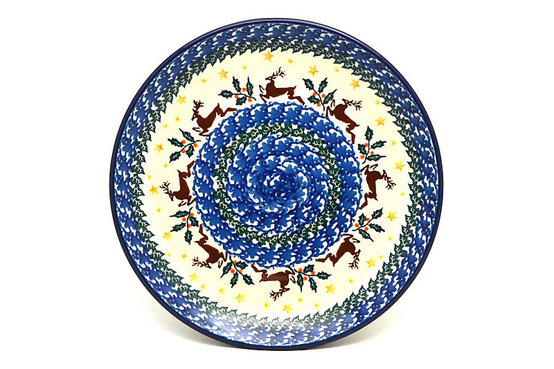 "Ceramika Artystyczna Polish Pottery Plate - Salad/Dessert (7 3/4"") - Prancer 086-1485a (Ceramika Artystyczna)"