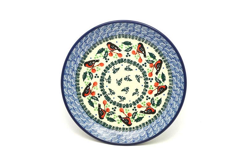 "Ceramika Artystyczna Polish Pottery Plate - Salad/Dessert (7 3/4"") - Red Robin 086-1257a (Ceramika Artystyczna)"