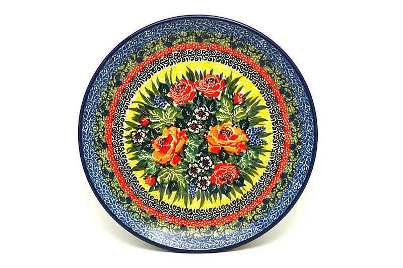 """Ceramika Artystyczna Polish Pottery Plate - Salad/Dessert (7 3/4"""") - Unikat Signature U4616 086-U4616 (Ceramika Artystyczna)"""