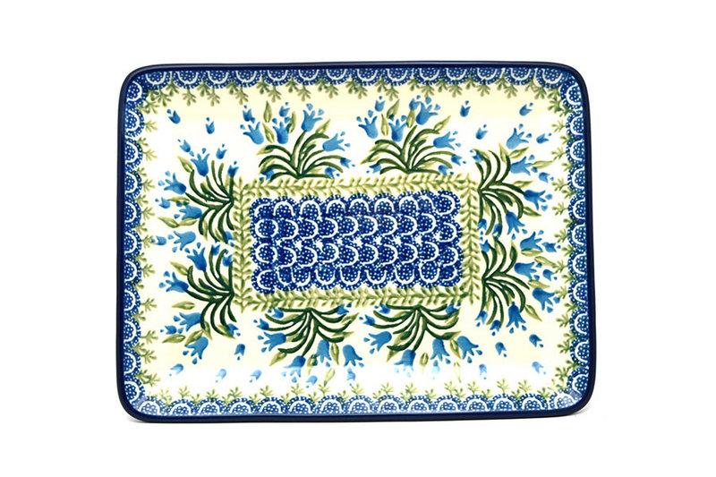 Ceramika Artystyczna Polish Pottery Platter - Rectangular - Blue Bells 111-1432a (Ceramika Artystyczna)
