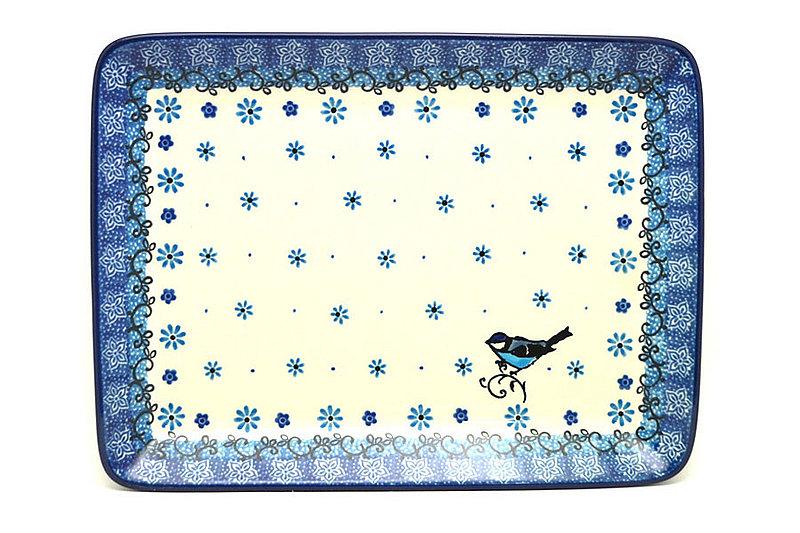 Ceramika Artystyczna Polish Pottery Platter - Rectangular - Bluebird 111-2529a (Ceramika Artystyczna)