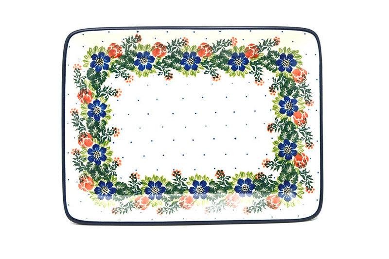 Ceramika Artystyczna Polish Pottery Platter - Rectangular - Garden Party 111-1535a (Ceramika Artystyczna)