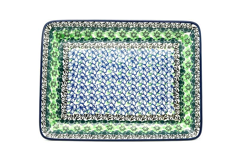 Ceramika Artystyczna Polish Pottery Platter - Rectangular - Kiwi 111-1479a (Ceramika Artystyczna)