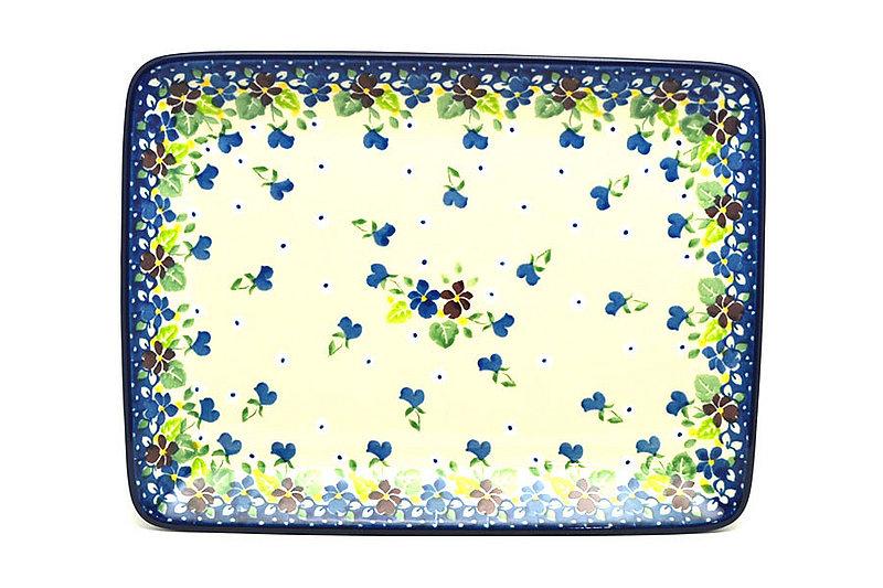 Ceramika Artystyczna Polish Pottery Platter - Rectangular - Plum Luck 111-2509a (Ceramika Artystyczna)