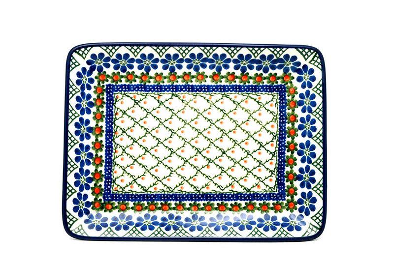 Ceramika Artystyczna Polish Pottery Platter - Rectangular - Primrose 111-854a (Ceramika Artystyczna)