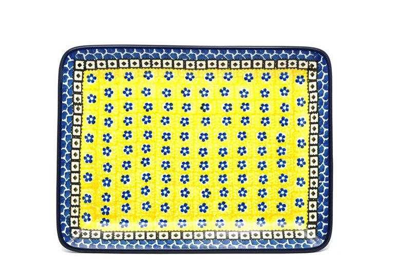 Ceramika Artystyczna Polish Pottery Platter - Rectangular - Sunburst 111-859a (Ceramika Artystyczna)