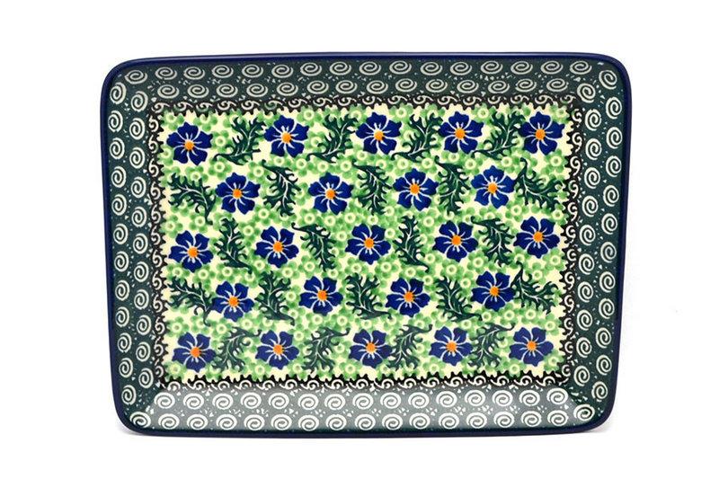Ceramika Artystyczna Polish Pottery Platter - Rectangular - Sweet Violet 111-1538a (Ceramika Artystyczna)