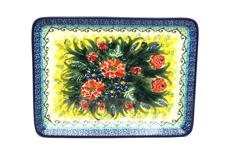 Ceramika Artystyczna Polish Pottery Platter - Rectangular - Unikat Signature U4610 111-U4610 (Ceramika Artystyczna)