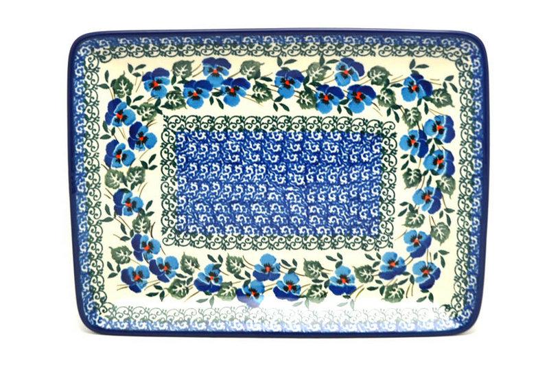 Ceramika Artystyczna Polish Pottery Platter - Rectangular - Winter Viola 111-2273a (Ceramika Artystyczna)