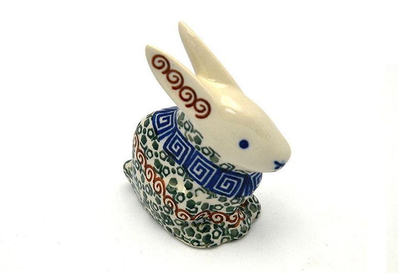 Ceramika Artystyczna Polish Pottery Rabbit Figurine - Small - Autumn 821-050a (Ceramika Artystyczna)