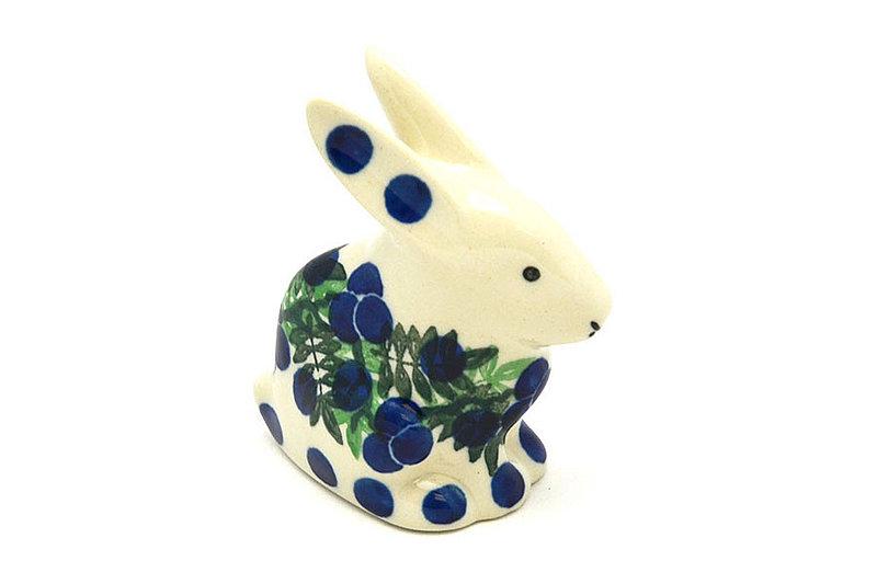 Ceramika Artystyczna Polish Pottery Rabbit Figurine - Small - Huckleberry 821-1413a (Ceramika Artystyczna)