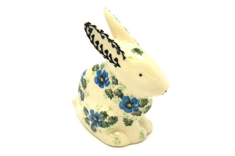 Ceramika Artystyczna Polish Pottery Rabbit Figurine - Small - Morning Glory 821-1915a (Ceramika Artystyczna)