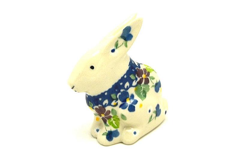 Ceramika Artystyczna Polish Pottery Rabbit Figurine - Small - Plum Luck 821-2509a (Ceramika Artystyczna)
