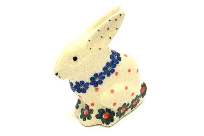 Ceramika Artystyczna Polish Pottery Rabbit Figurine - Small - Primrose 821-854a (Ceramika Artystyczna)