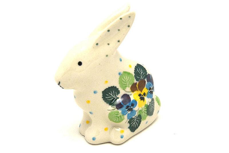 Ceramika Artystyczna Polish Pottery Rabbit Figurine - Small - Spring Viola 821-2340a (Ceramika Artystyczna)