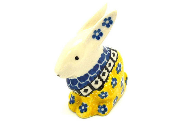 Ceramika Artystyczna Polish Pottery Rabbit Figurine - Small - Sunburst 821-859a (Ceramika Artystyczna)