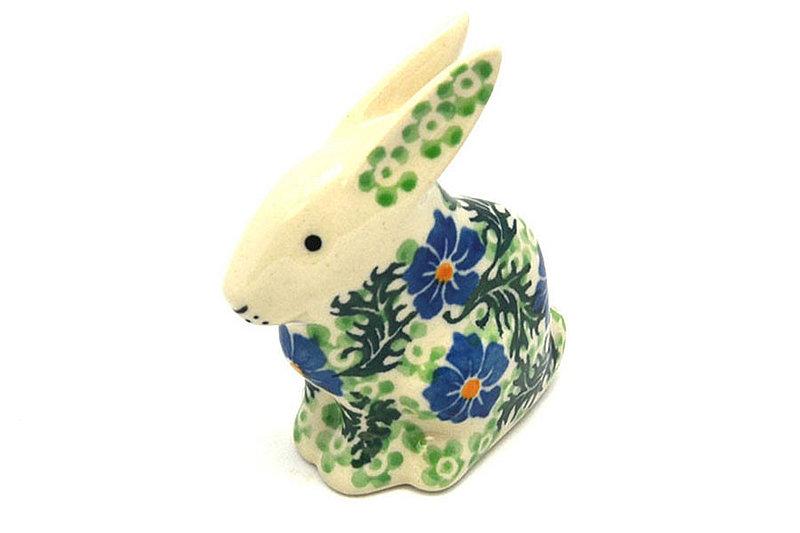 Ceramika Artystyczna Polish Pottery Rabbit Figurine - Small - Sweet Violet 821-1538a (Ceramika Artystyczna)