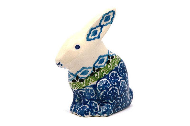 Ceramika Artystyczna Polish Pottery Rabbit Figurine - Small - Tranquility 821-1858a (Ceramika Artystyczna)
