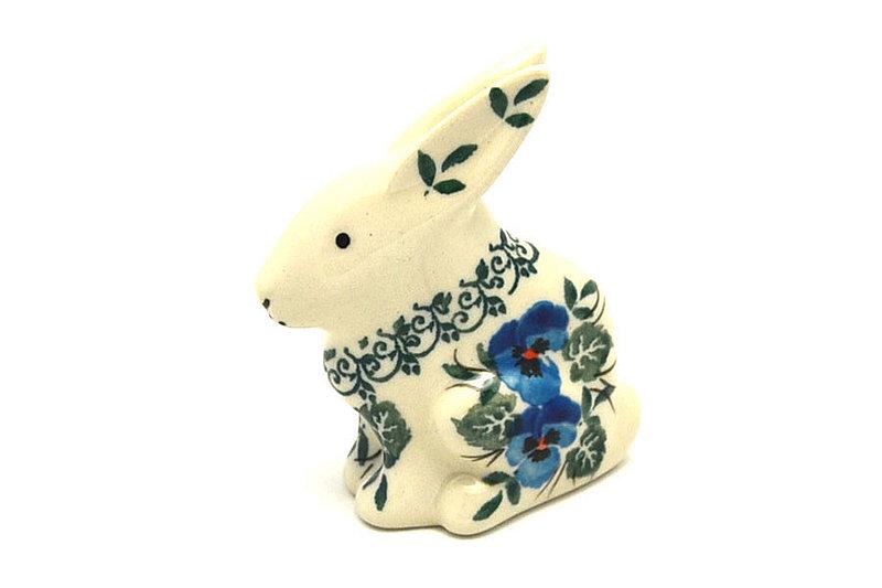 Ceramika Artystyczna Polish Pottery Rabbit Figurine - Small - Winter Viola 821-2273a (Ceramika Artystyczna)