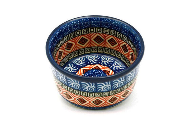 Ceramika Artystyczna Polish Pottery Ramekin - Aztec Sun 409-1350a (Ceramika Artystyczna)
