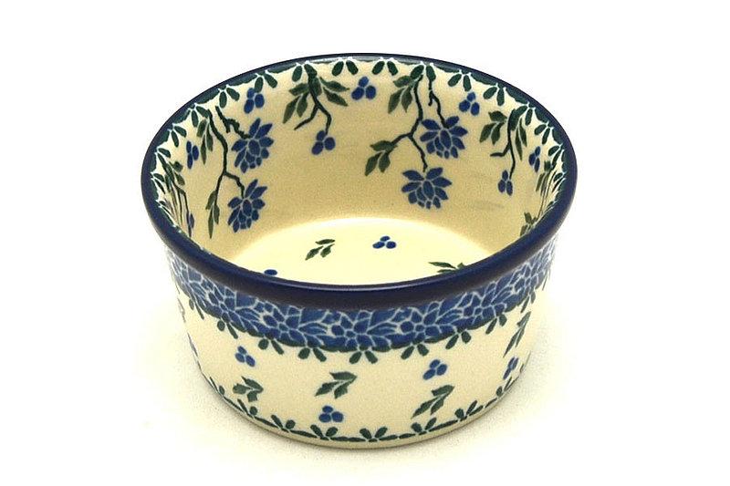 Ceramika Artystyczna Polish Pottery Ramekin - Blue Clover 409-1978a (Ceramika Artystyczna)