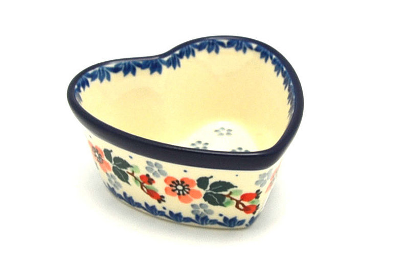 Ceramika Artystyczna Polish Pottery Ramekin - Heart - Cherry Blossom A45-2103a (Ceramika Artystyczna)