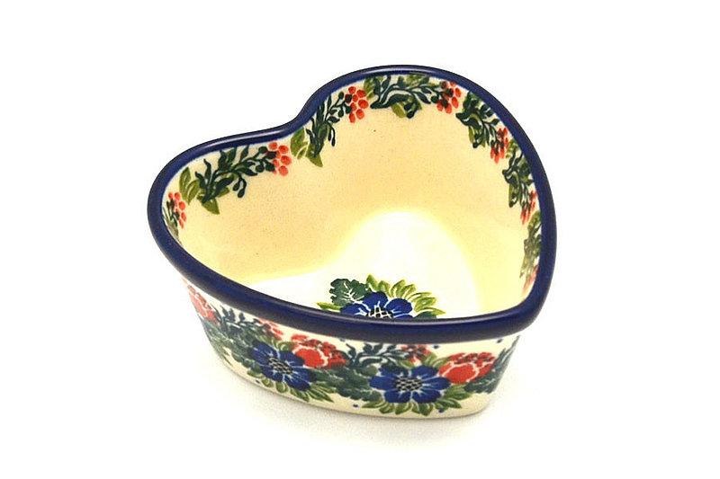 Ceramika Artystyczna Polish Pottery Ramekin - Heart - Garden Party A45-1535a (Ceramika Artystyczna)