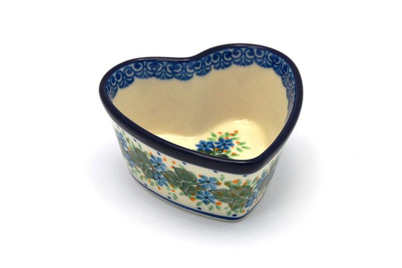 Ceramika Artystyczna Polish Pottery Ramekin - Heart - Ivy Trail A45-1898a (Ceramika Artystyczna)