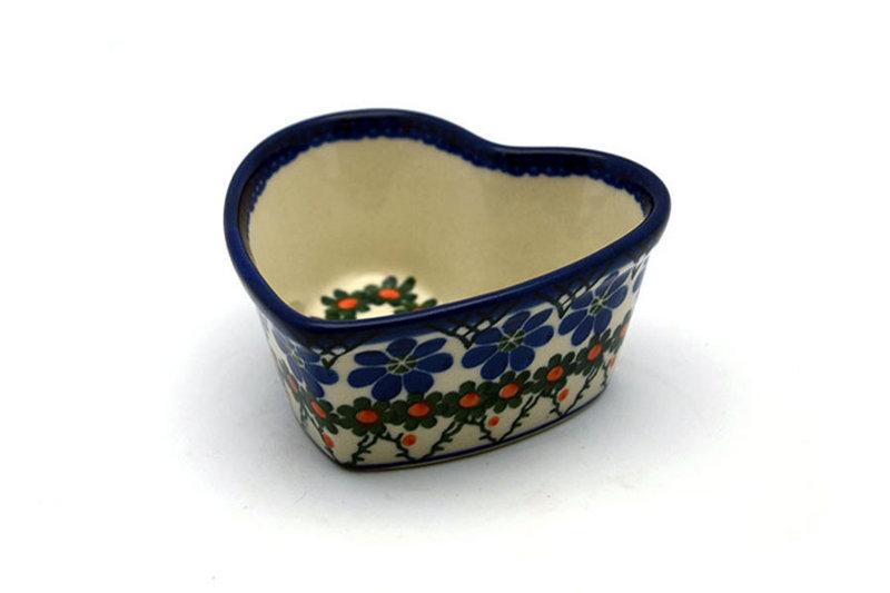 Ceramika Artystyczna Polish Pottery Ramekin - Heart - Primrose A45-854a (Ceramika Artystyczna)