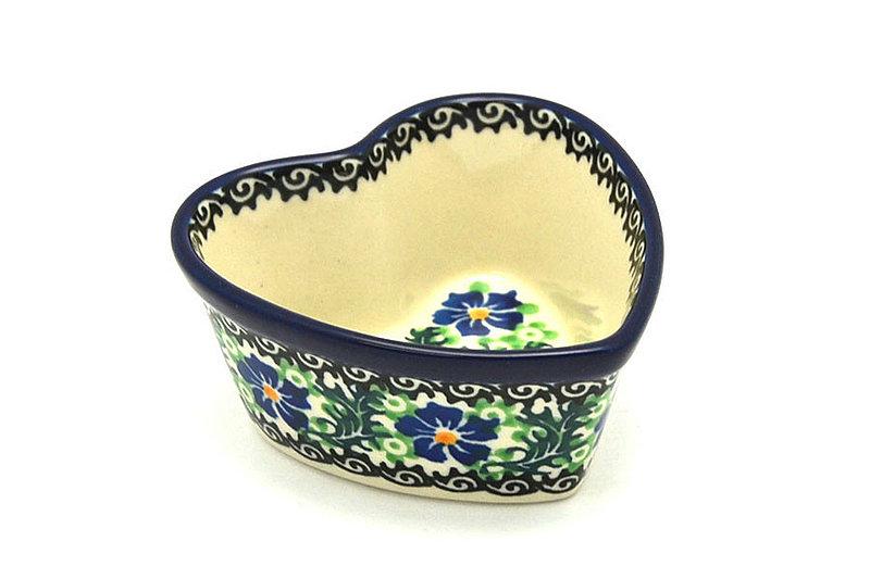 Ceramika Artystyczna Polish Pottery Ramekin - Heart - Sweet Violet A45-1538a (Ceramika Artystyczna)
