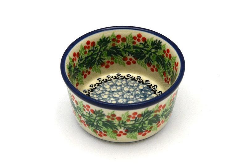 Polish Pottery Ramekin - Holly Berry
