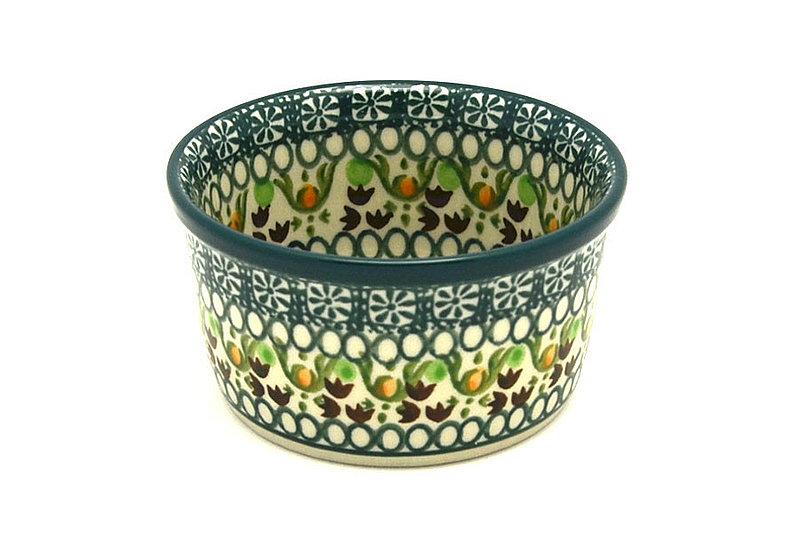 Ceramika Artystyczna Polish Pottery Ramekin - Mint Chip 409-2195q (Ceramika Artystyczna)