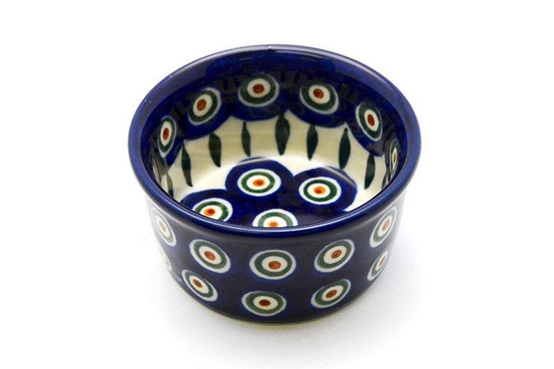 Polish Pottery Ramekin - Peacock