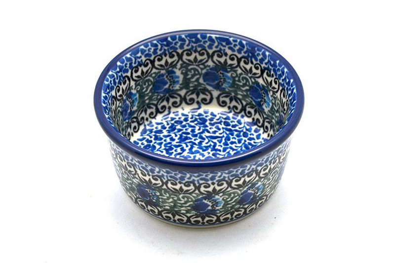 Ceramika Artystyczna Polish Pottery Ramekin - Peacock Feather 409-1513a (Ceramika Artystyczna)
