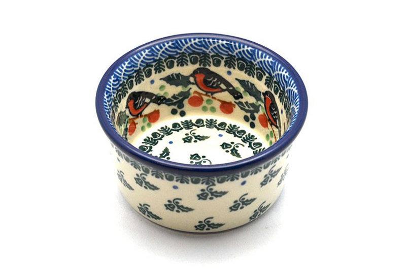 Ceramika Artystyczna Polish Pottery Ramekin - Red Robin 409-1257a (Ceramika Artystyczna)