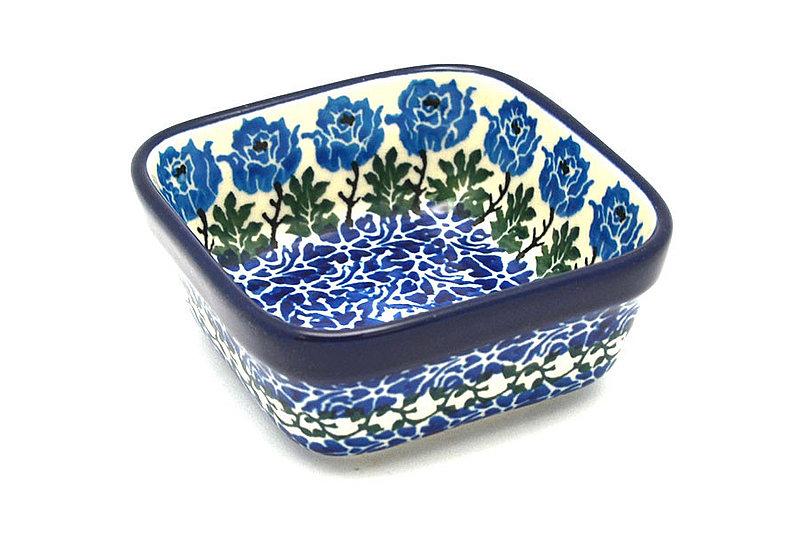 Ceramika Artystyczna Polish Pottery Ramekin - Square - Antique Rose 428-1390a (Ceramika Artystyczna)