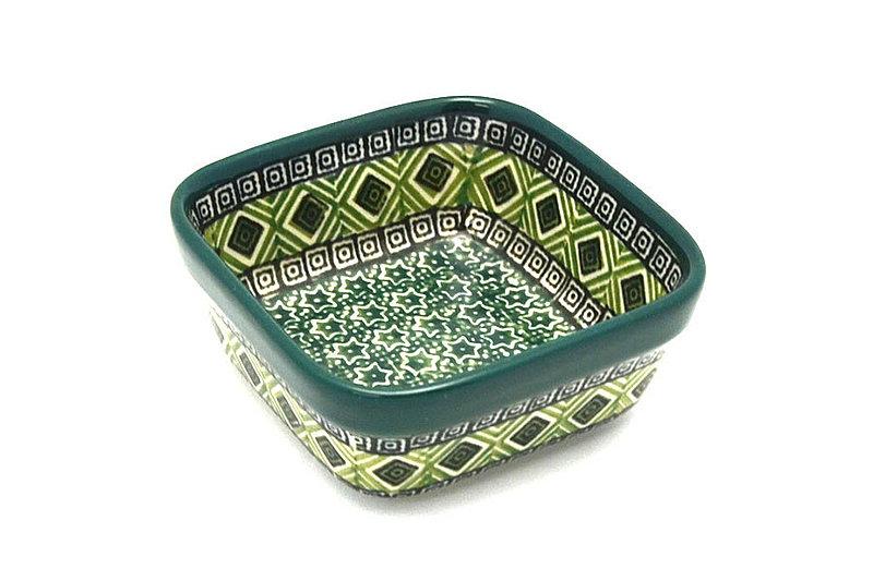 Ceramika Artystyczna Polish Pottery Ramekin - Square - Aztec Forest 428-1919q (Ceramika Artystyczna)