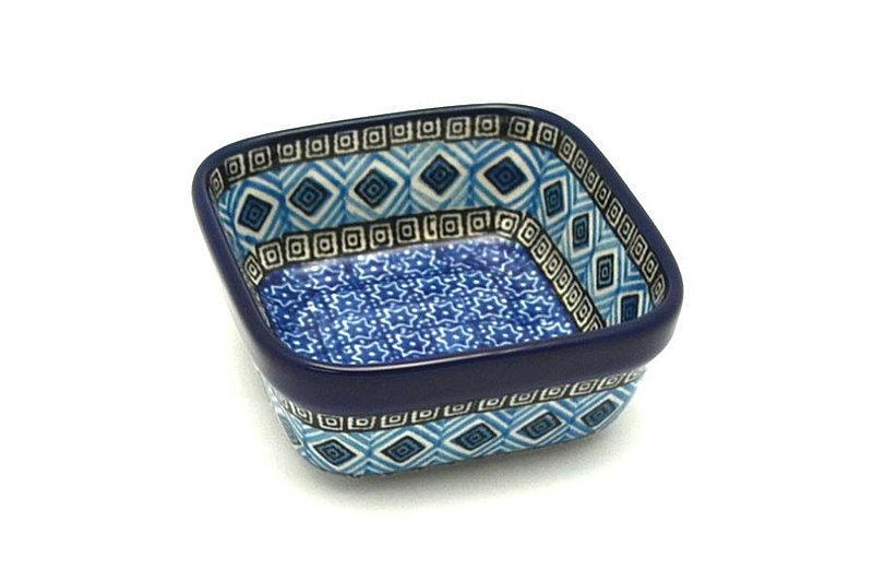 Ceramika Artystyczna Polish Pottery Ramekin - Square - Aztec Sky 428-1917a (Ceramika Artystyczna)
