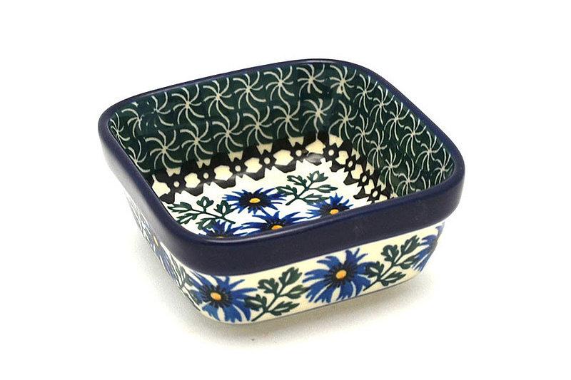 Ceramika Artystyczna Polish Pottery Ramekin - Square - Blue Chicory 428-976a (Ceramika Artystyczna)